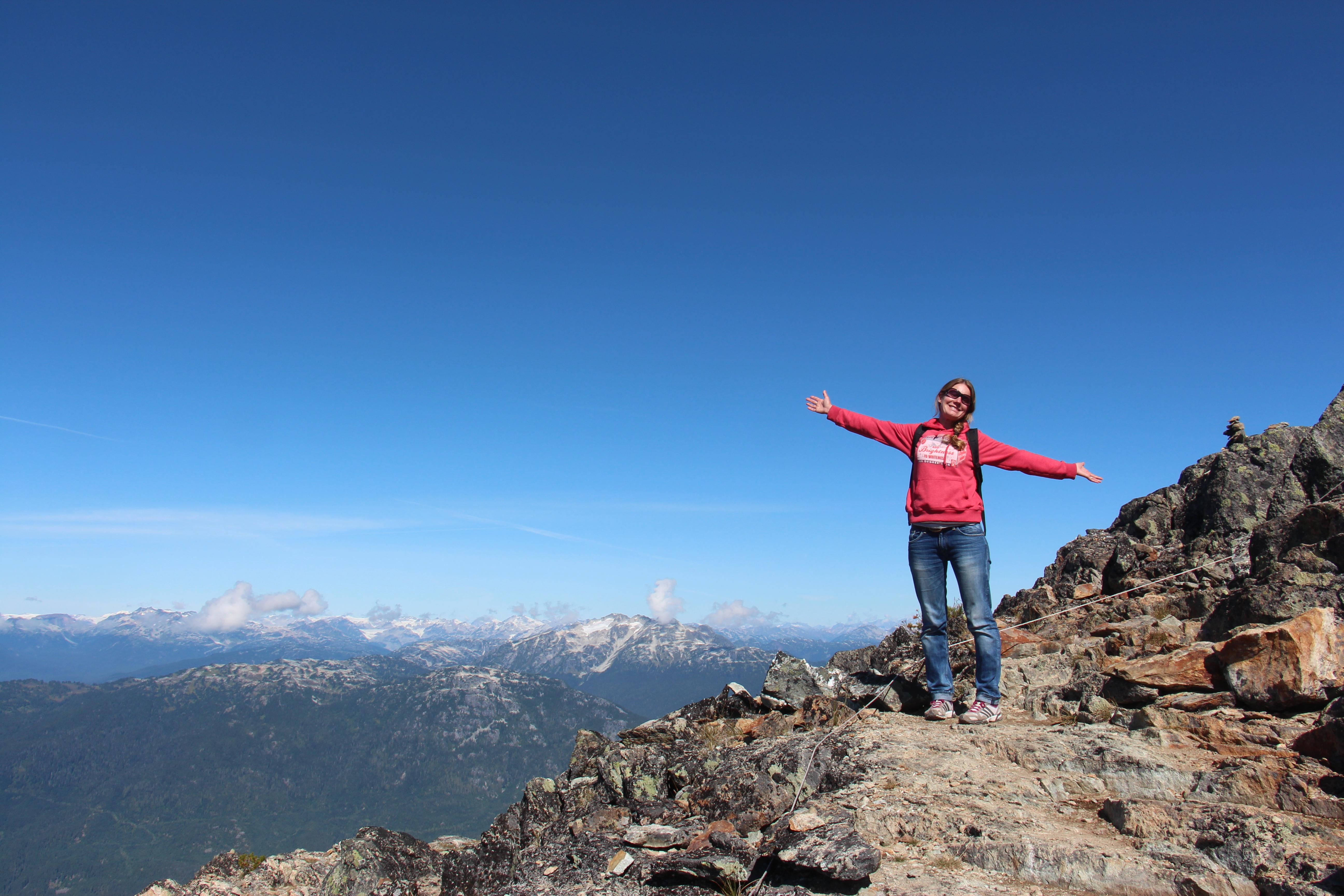 Emma on the mountain