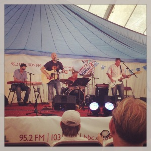 The Claze play on the BBC Radio Cornwall stage at this year's Royal Cornwall Show