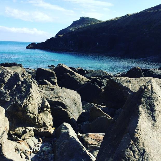 Sea and Rocks at Lundy Bay